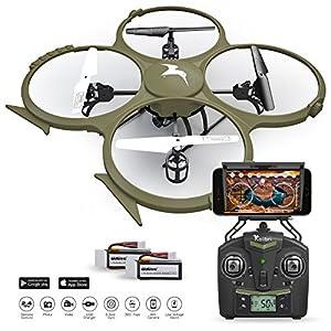 Kolibri U818A Wi-Fi Discovery Delta-Recon Quadcopter Drone Tactical Edition with 720p HD Camera (Military Matte Drab Green) by Kolibri