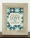 All You Need Is Love and A Cat Kitten Gift Home Picture Sign Decor Framed Art 13x16""