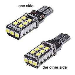 KaTur 4pcs High Power 800 Lumens Super Bright T15 W16W 921 915 LED Canbus Error Free 15SMD 2835 Backup Reverse Tail Brake Lights Parking LED Blubs DC 12V White