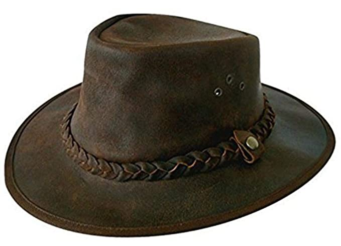 Explorer Brown Leather Bush Hat from Cotswold Country Hats (55cm Small) 9771d51b970e
