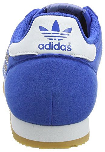 adidas Dragon OG, Chaussures de Fitness Mixte Adulte Bleu (Blue/Footwear White/Gum Blue/Footwear White/Gum)
