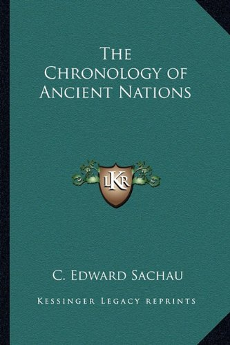 Download The Chronology of Ancient Nations PDF