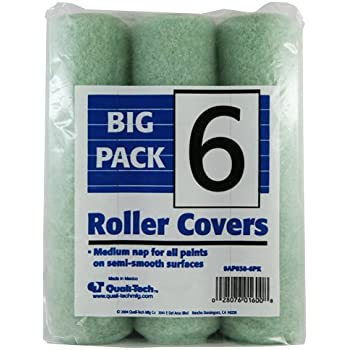 Quali-Tech 9AP038-6PK 9-Inch All Purpose 3/8-Inch Nap 6 Pack Paint Roller Covers