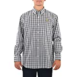 Cutter & Buck New Orleans Saints Epic Easy Care Plaid Button Down in Black and White