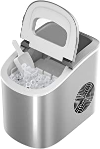 WUAZ Ice Maker for Countertop, 26LBS/24H Portable & Compact Ice Maker Machine, Ice Cubes Ready in 6 Mins, Electric High Efficiency Express Clear Operation Control Panel