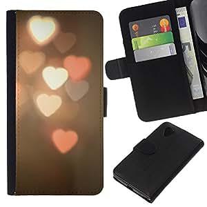 KingStore / Leather Etui en cuir / LG Nexus 5 D820 D821 / Blurry Rose White Night