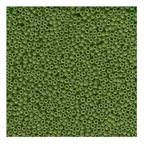Jade Green Opaque Miyuki Japanese round rocailles glass seed beads 11/0 Approximately 24 gram 5 inch tube