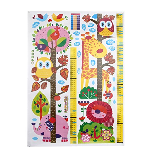 Kocome Owl Wall Stickers Child Room Animal Decals Removable Zoo Measuring Height