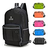 Lightweight Foldable Backpack Waterproof For Women ,Men ,Student , Travel Hiking Backpack Handy Camping Outdoor Backpack (Black) Review