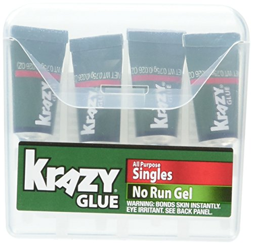 ELMERS Instant Krazy Glue All-Purpose Gel with Single Use Tube, 0.75G, Clear (KG86748SN) ()