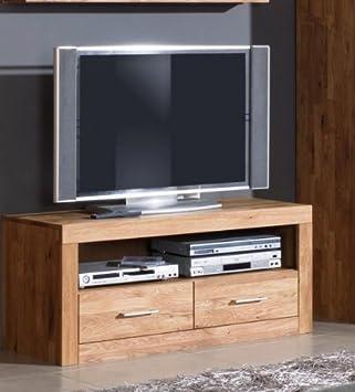 TV-mueble para televisor TV-cómoda de madera de roble maciza ...