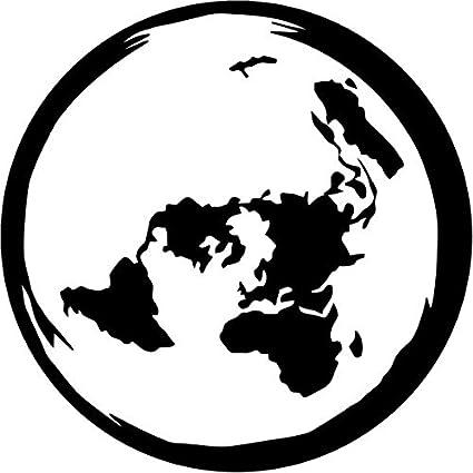 Amazon planet earth flat map vinyl decal sticker 6 wide matte planet earth flat map vinyl decal sticker 6quot wide matte black color gumiabroncs Gallery