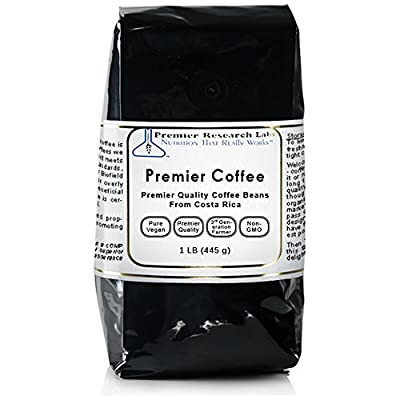 Premier Coffee, 1 lb, 100% Organic Whole Coffee Beans (Roasted)