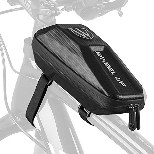 W WHEEL UP Bike Frame Bag,Bicycle Front Frame Phone Bag Bike Top Tube Bag Bike Bag Cycling Accessories Pouch