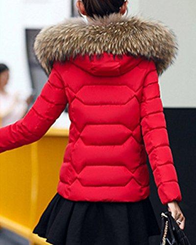 con Donna Giacca Parka Cappuccio Outwear Giacche Cappotto rete Abbottonato Invernale TRfqB1R