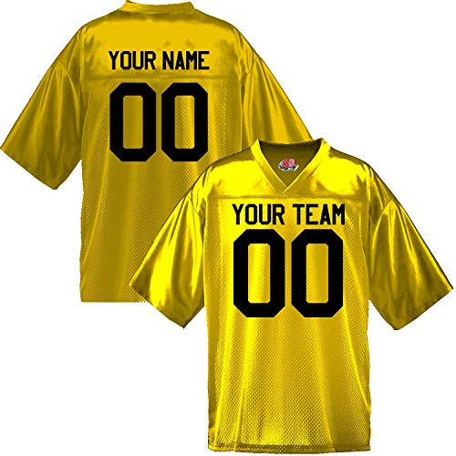 Custom Football Jersey for Youth and Adult you Design Online in Adult 2X-Large in Gold