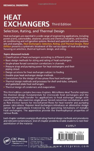 Buy Heat Exchangers: Selection, Rating, and Thermal Design, Third