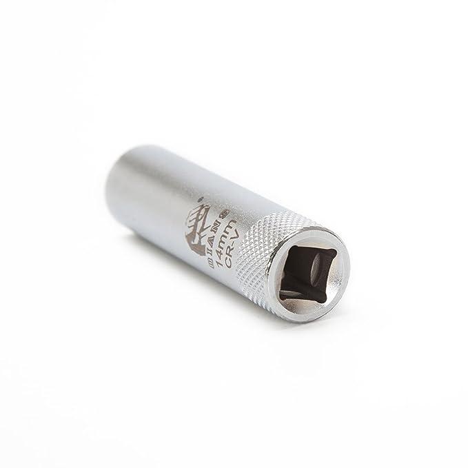 Bujías de uso 14 mm, Nuez de ranuras de airkoul Bujía Llave para BMW E90 Renault: Amazon.es: Coche y moto