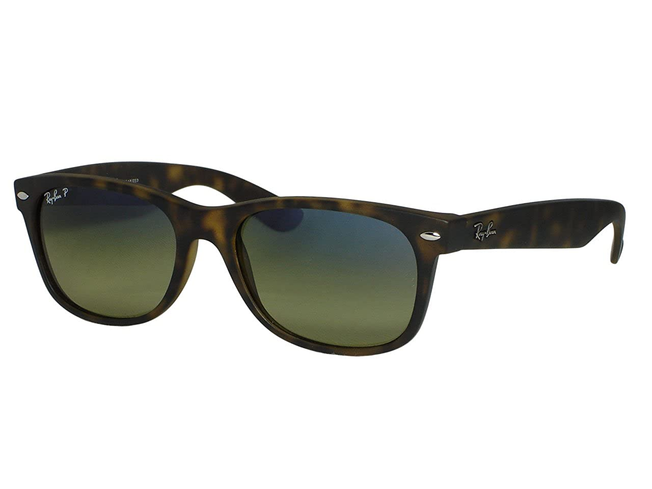 81afcefd7a7 Amazon.com  Ray Ban RB2132 New Wayfarer 894 76 Matte Havana Polarized  sunglasses 55mm  Clothing