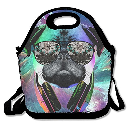 Dj Dog With Earphone Sunglass Lunch Tote Insulated Reusable Picnic Lunch Bags Boxes For Men Women Adults Kids Toddler - Sunglasses Toddler Canada