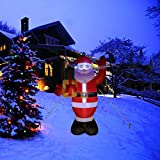 Morevee - Bolsa inflable de Navidad de 5 pies, diseño de Papá Noel, color rojo