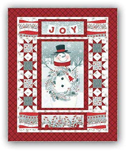 Frosty Friends Flannel Quilt Kit by Jan Shade Beach  Backing Sold Separate