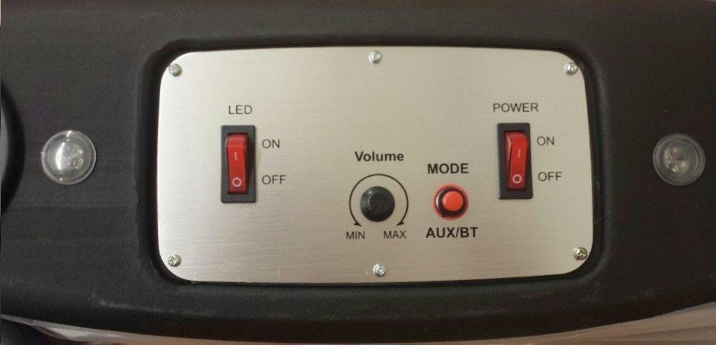 Soundbar Six Speakers with Map Lights Overhead Sound Bar for Jeep Wrangler
