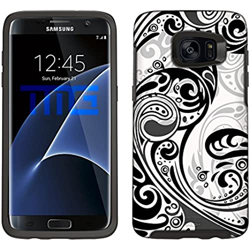 Skin Decal for Otterbox Symmetry Samsung Galaxy S7 Edge Case - Abstract Swirled Sades of White on White Sales