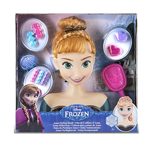 Disney Frozen Anna, 16637FR Styling Head Doll Styling Head (Frozen Elsa Head)
