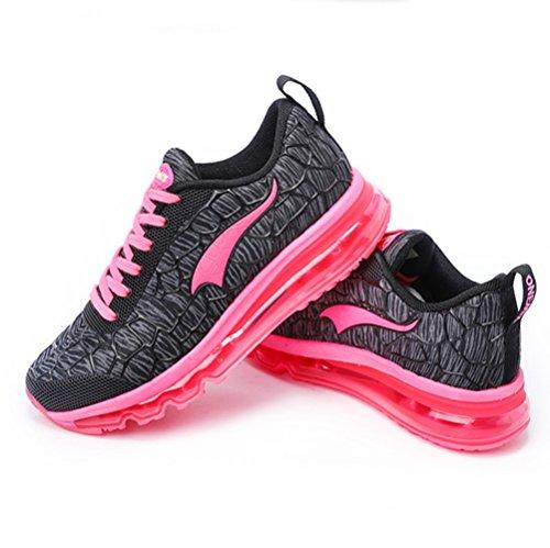 U-mac Uomo E Donna Moda Sneaker Leggero Cuscino Daria Fitness Sport Cross Country Scarpe Da Corsa Rosso Donna