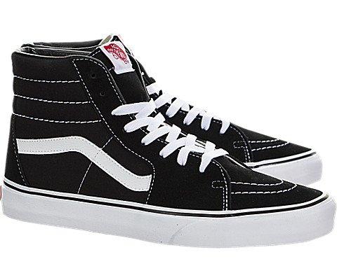 Vans Unisex Sk8-Hi Black/Black/White Skate Shoe 9.5 Men US/11 Women US