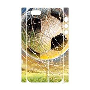 3D Bumper Plastic Customized Case Of Football for iPhone 5,5S