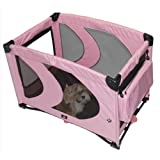 Pet Gear Home 'N Go Pet Pen for cats and dogs up to 30-pounds, Pink Ice