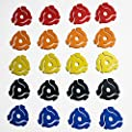 """(20 Pack) Twenty Mixed Color Plastic 45 RPM 7 Inch Vinyl Record Adaptor - 7"""" Inserts by 24 Hour Distribution"""