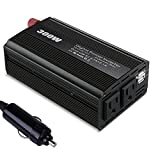 300W Power Inverter Bestech DC 12V to 110V AC Car Inverter with 2 Dual USB Car Adapter