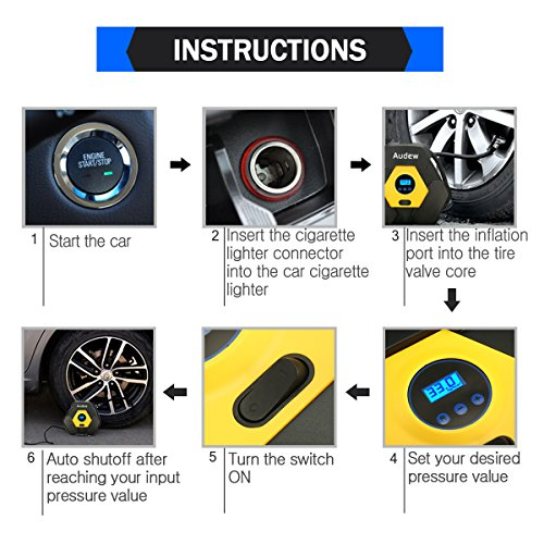AUDEW-Portable-Air-Compressor-Pump-Auto-Digital-Tire-Inflator-12V-150-PSI-Tire-Pump-for-Car-Truck-Bicycle-RV-and-Other-Inflatables