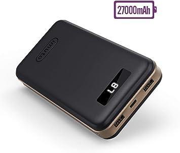 imuto Cargador portátil, batería Externa con Pantalla LED Digital Inteligente de Carga rápida para iPhone 7, 7 Plus, iPad, Samsung, teléfonos Inteligentes y tabletas: Amazon.es: Electrónica
