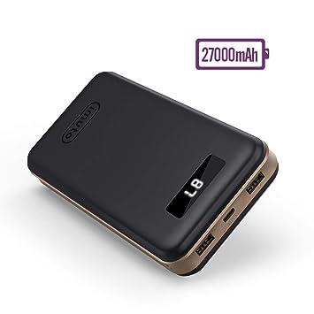 imuto Cargador portátil, batería Externa con Pantalla LED Digital Inteligente de Carga rápida para iPhone 7, 7 Plus, iPad, Samsung, teléfonos ...
