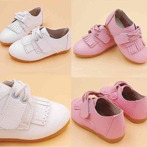 Tefamore Zapatos De Bailando Bebé Niño Recién Nacido Suave Suela Antideslizante Zapatillas Primavera y Verano blanco