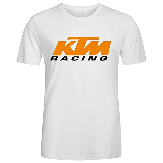Car Logo Ktm Racing Printed T Shirts For Men Crew Neck XXX-Large