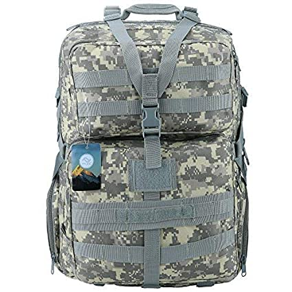 4-in-1 60L Military Tactical Molle Backpack Bag Pouch Camping Hiking Trekking UK