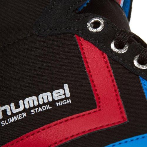 Hummel Slanker Townil Hoog Canvas Zwart Rood Blauw Heren Sportschoenen
