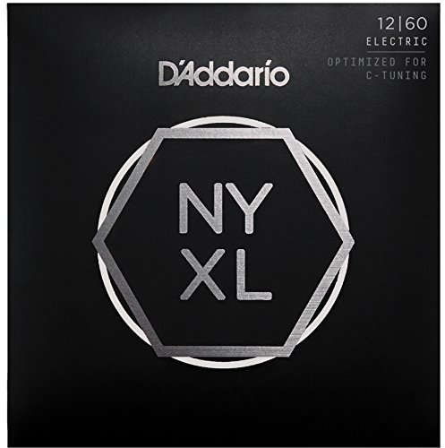 D'Addario NYXL1260 Nickel Plated Electric Guitar Strings,Extra Heavy,12-60 - High Carbon Steel Alloy for Unprecedented Strength - Ideal Combination of Playability and Electric Tone