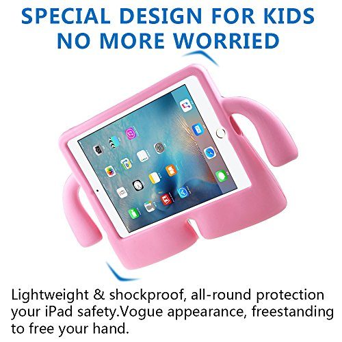 Lioeo iPad Mini Case for Kids Freestanding with Handle Lightweight EVA Foam Case for Apple iPad Mini 4 3 2 1 7.9 inch (Pink) by Lioeo (Image #3)