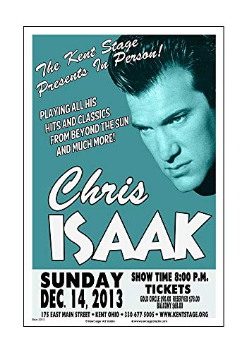Raw Sugar Art Studio Chris Isaak 2013 Kent Ohio Concert Poster