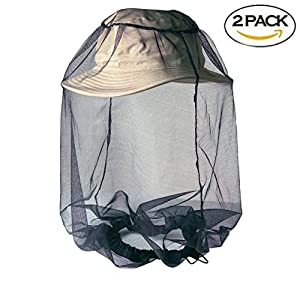 Yotani Head Face Mosquitos Net Insect Repellent Netting Fine Woven Mesh Outdoor Activities Hiking Fishing Hunting Camping Backpacking Protect from Insects Bugs and Diseases Black