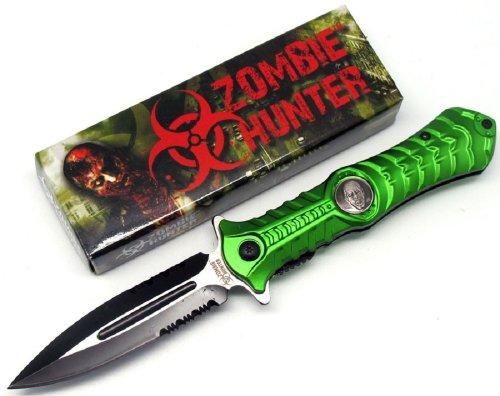 "Zombie Hunter ""Haunt"" A0 Tactical Folding Knife – Green, Outdoor Stuffs"