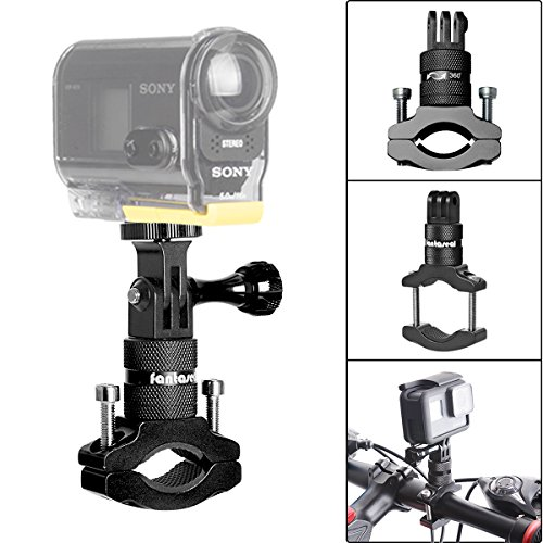 Action Camera Bike Mount Kit for Sony Bike Mount 360 Degree Rotary Bicycle Handlebar Mount Clamp Aluminum Alloy Handlebar Mount Holder Pole Mount w/1/4