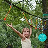 Ninja Slackline Monkey Bar Kit Outdoor Tree Hanging Obstacles Line Accessories Play Set for Kids