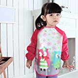 Aisa Children Kids Waterproof Long-sleeved Smock